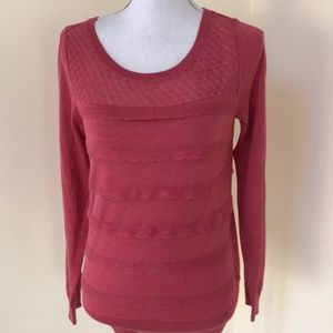 NWT! Loft small L/S sweater with ruffles .